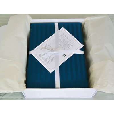 3 Piece Reversible Duvet Cover Set Size: King, Color: Moroccan Blue