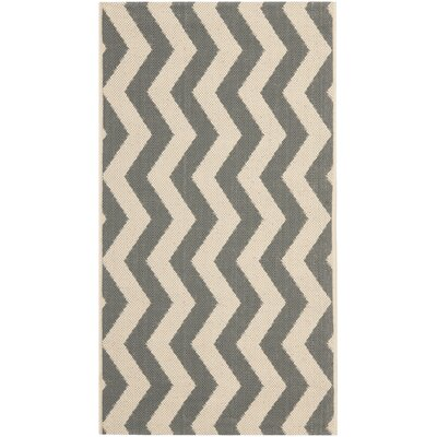 Jefferson Place Gray/Beige Indoor/Outdoor Area Rug Rug Size: Rectangle 2 x 37