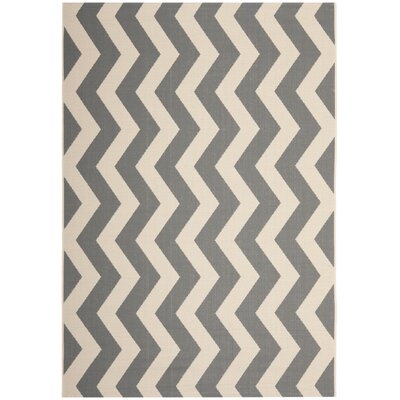 Jefferson Place Gray/Beige Indoor/Outdoor Area Rug Rug Size: Rectangle 53 x 77