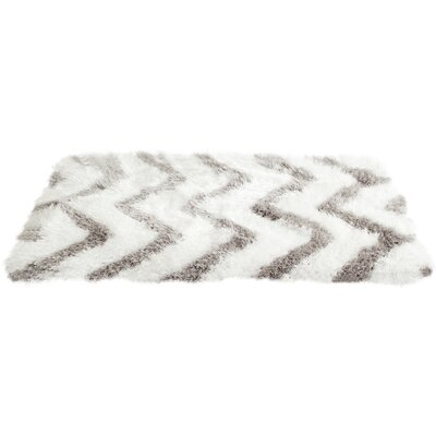 Hempstead Hand-Tufted Gray/White Area Rug Rug Size: Square 5