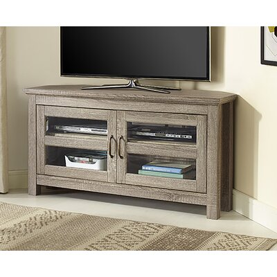 Dunmore 44 Wood Corner TV Stand Color: Ash Gray