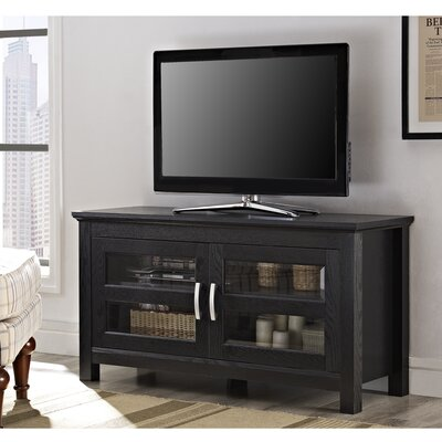Dunmore 44 Wood Corner TV Stand Color: Black