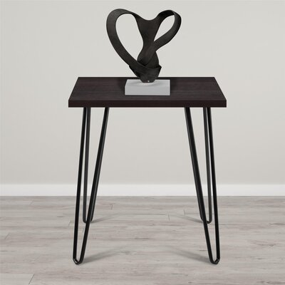 Bronstein End Table Finish: Gunmetal Gray/Espresso