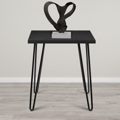 Bronstein End Table Finish: Black Oak