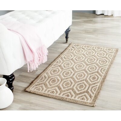 Miami Brown/Tan Indoor/Outdoor Area Rug Rug Size: Rectangle 27 x 5