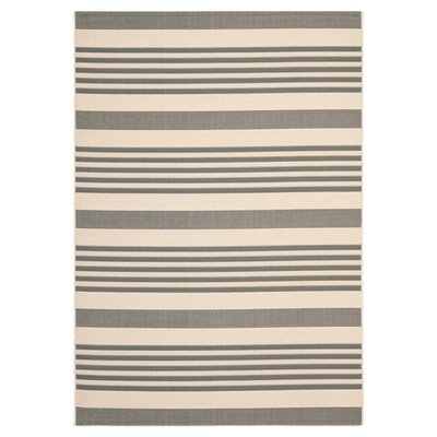 Sophina Gray/Beige Indoor/Outdoor Area Rug Rug Size: Rectangle 67 x 96