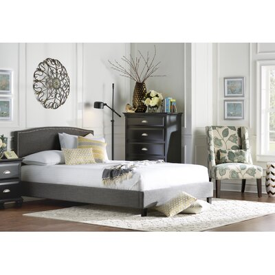 Avebury Queen Upholstered Platform Bed Color: Grey