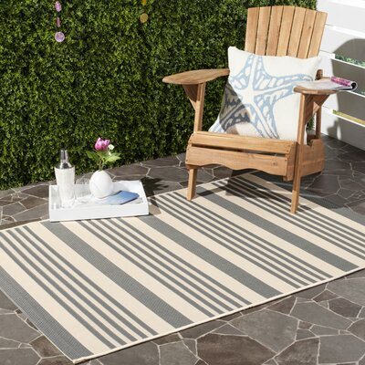 Sophina Gray/Beige Indoor/Outdoor Area Rug Rug Size: Rectangle 8 x 112