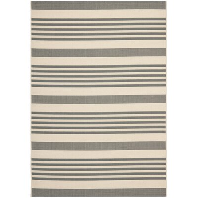Sophina Gray/Beige Indoor/Outdoor Area Rug Rug Size: Rectangle 4' x 5'7