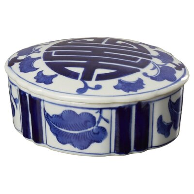 2 Piece Blue/White Ceramic Collectible Box Set (Set of 2) ACOT7094 40025640