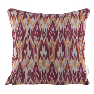 Zig Zag Ikat Throw Pillow