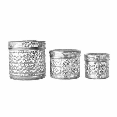 3 Piece Decorative Aluminum Box Set