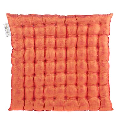 Shimmery Yoga Meditation Floor Pillow Color: Saffron
