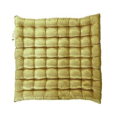Shimmery Yoga Meditation Floor Pillow Color: Moss