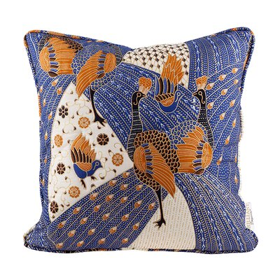 Quilted Peacock Throw Pillow