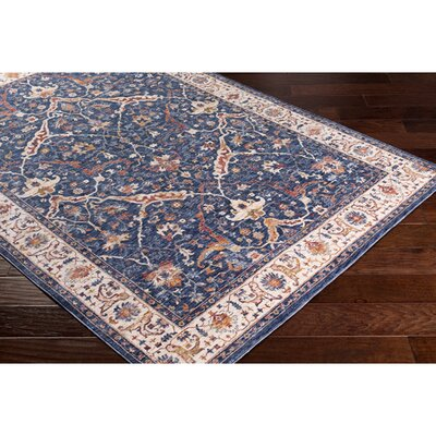 Richmond West Vintage Navy/Cream Area Rug Rug Size: Rectangle 710 x 106