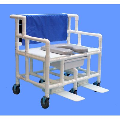 Bariatric Commode with Footrest Shower Chair