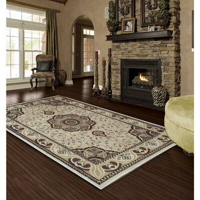 Ivory Area Rug Rug Size: 8 x 11
