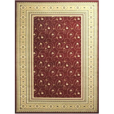 Red/Beige Area Rug Rug Size: 8 x 10