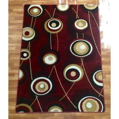 Burgundy Area Rug Rug Size: 8 x 10