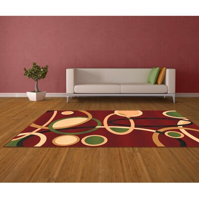 Red Area Rug Rug Size: 8 x 10