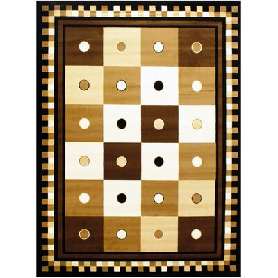 Brown/Beige Area Rug Rug Size: 8 x 10