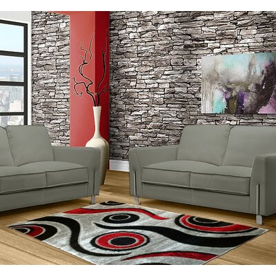 Black/Gray Area Rug Rug Size: 8 x 11
