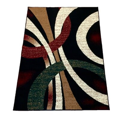 Black Area Rug Rug Size: 5 x 7
