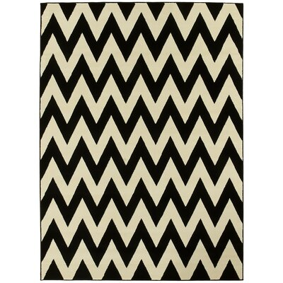 Black/White Area Rug Rug Size: 5 x 7