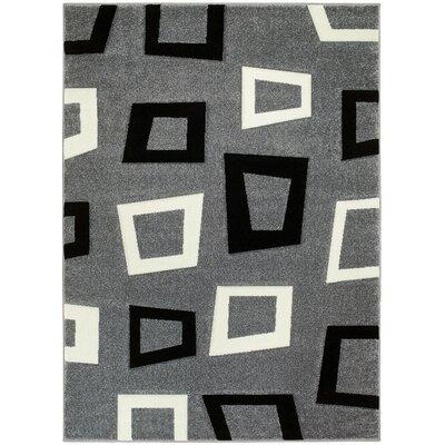Gray Area Rug Rug Size: 8 x 11