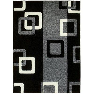 Geometric Gray Area Rug Rug Size: 5 x 7