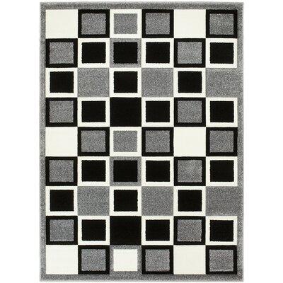 Geometric Gray Area Rug Rug Size: 8 x 11