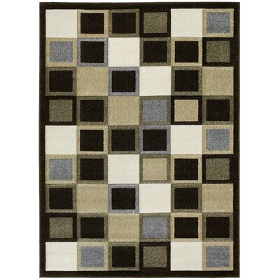 Geometric Chocolate Area Rug Rug Size: 5 x 7