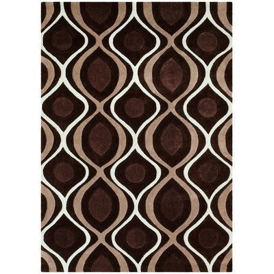 Hand Carved Chocolate Area Rug Rug Size: 8 x 10