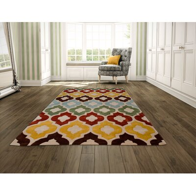 Hand Carved Trellis Area Rug Rug Size: 5' x 7'