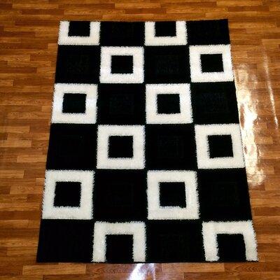 Black Area Rug Rug Size: 8 x 11