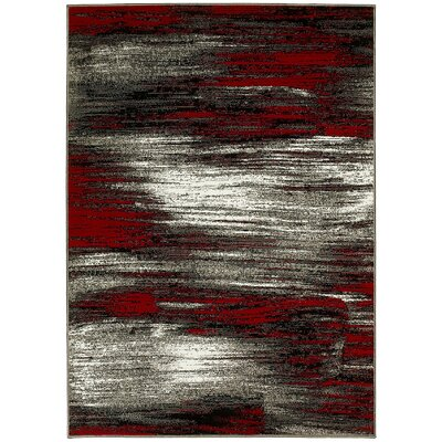 Red Area Rug Rug Size: 5' x 7'