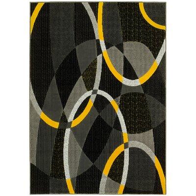 Yellow Area Rug Rug Size: 8 x 10