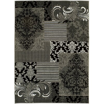 Gray/Black Area Rug Rug Size: 5 x 7