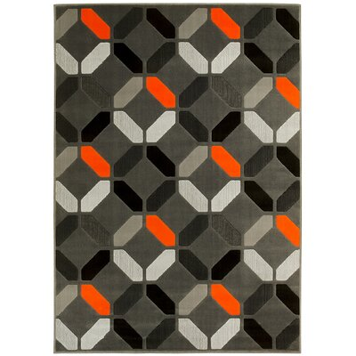 Orange Area Rug Rug Size: 8 x 10