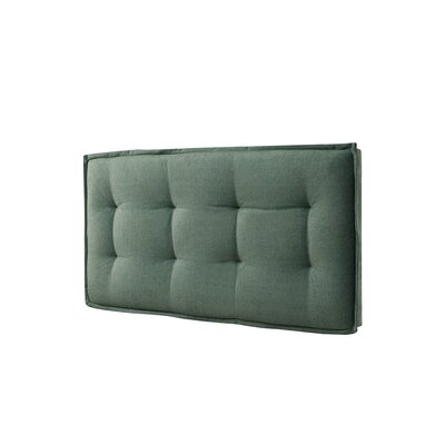 Walther Tufted Upholstered Panel Headboard Upholstery: Faded Green, Size: Full