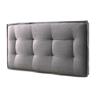 Upholstered Panel Headboard Size: Full, Color: Gray