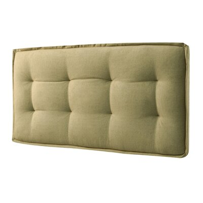 Upholstered Panel Headboard Finish: Yellow, Size: Queen