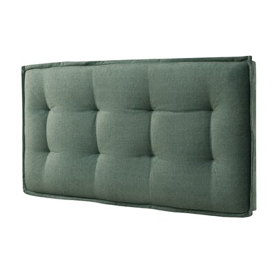 Upholstered Panel Headboard Finish: Green, Size: Queen