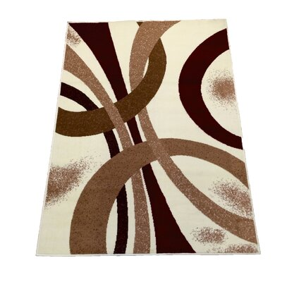 Ivory Area Rug Rug Size: 5 x 7