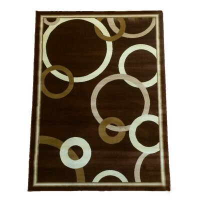 Dark Brown Area Rug Rug Size: 5 x 8
