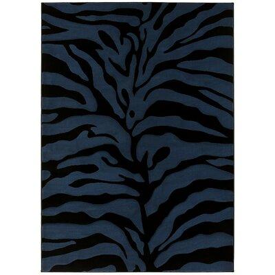 Blue/Black Area Rug Rug Size: 5 x 7