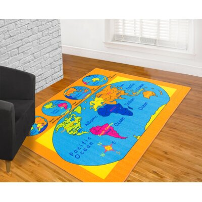 Orange Area Rug Rug Size: 7 x 10