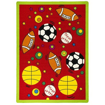 Red Indoor/Outdoor Area Rug Rug Size: 5 x 7