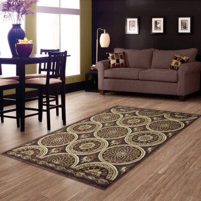 Brown Area Rug Rug Size: 8 x 11